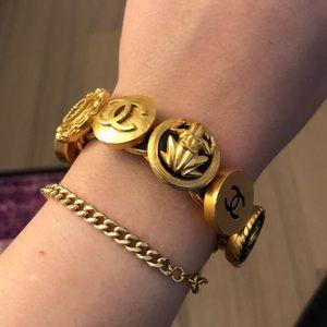 Chanel Chain Button Bracelet